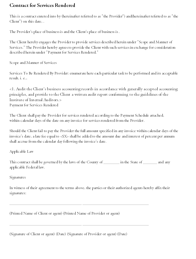 Contract Template 01