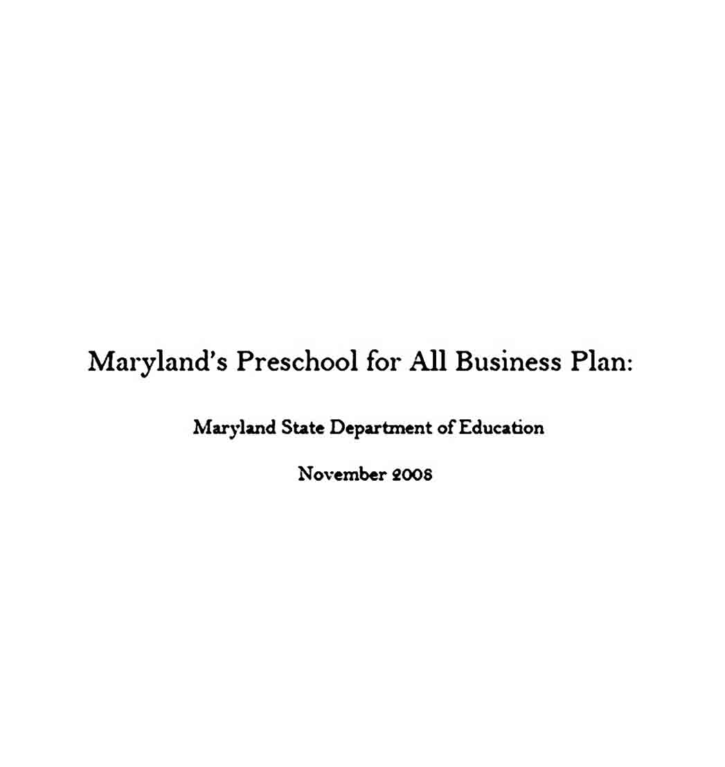 Daycare and Preschool Business Plan