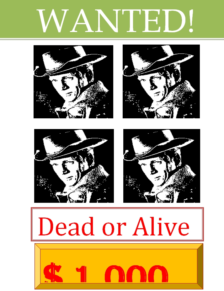 Dead or Alive Wanted Poster Template 01
