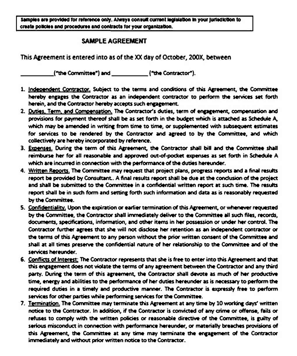 General Business Agreement Between Two Parties