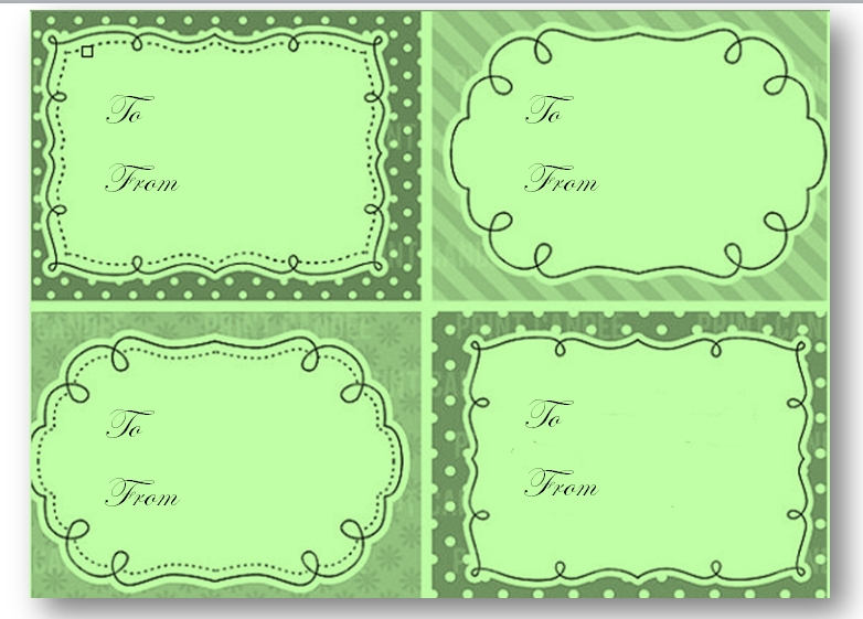 Gift Tag Template 03
