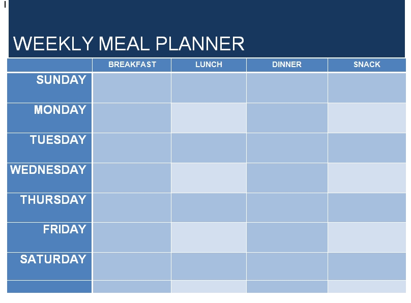 Meal Plan Template 22
