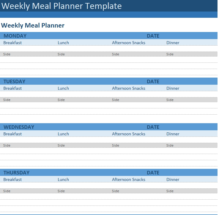 Meal Plan Template 34