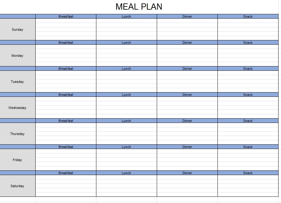 Meal Plan Template 36