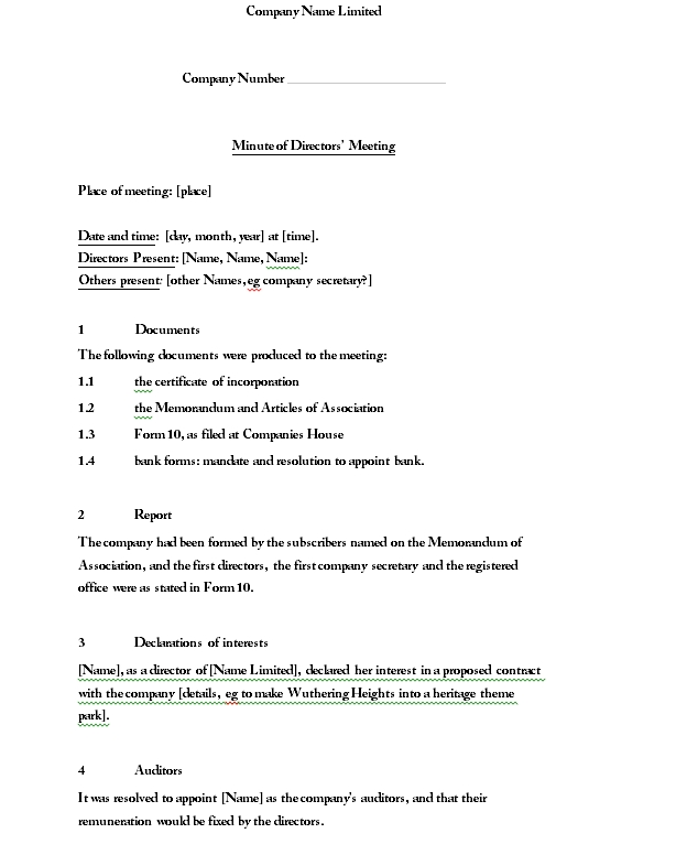 Meeting Minutes Template 01