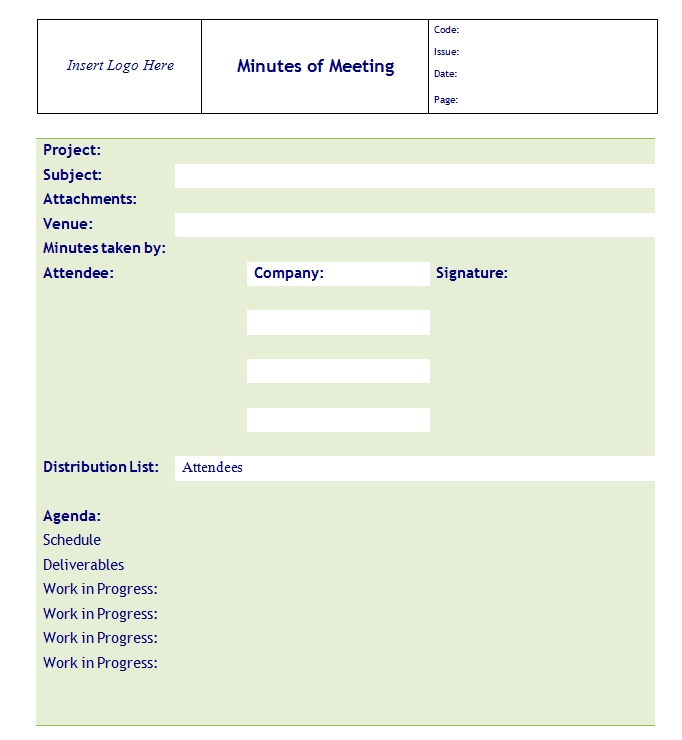 Meeting Minutes Template 09