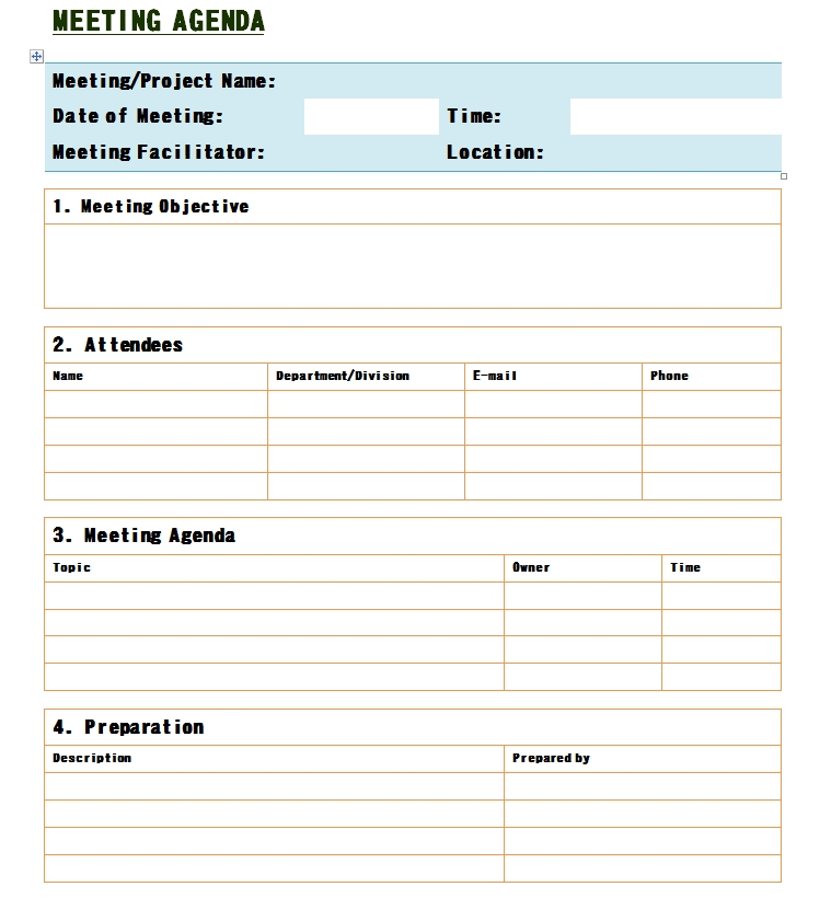 Meeting Notes Template 11