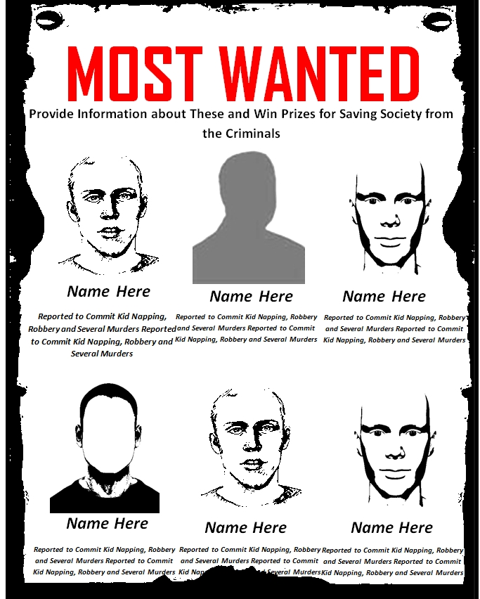Most Wanted Poster Template 01