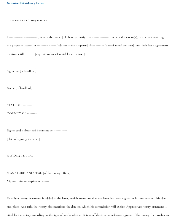Notarized Letter Template 14