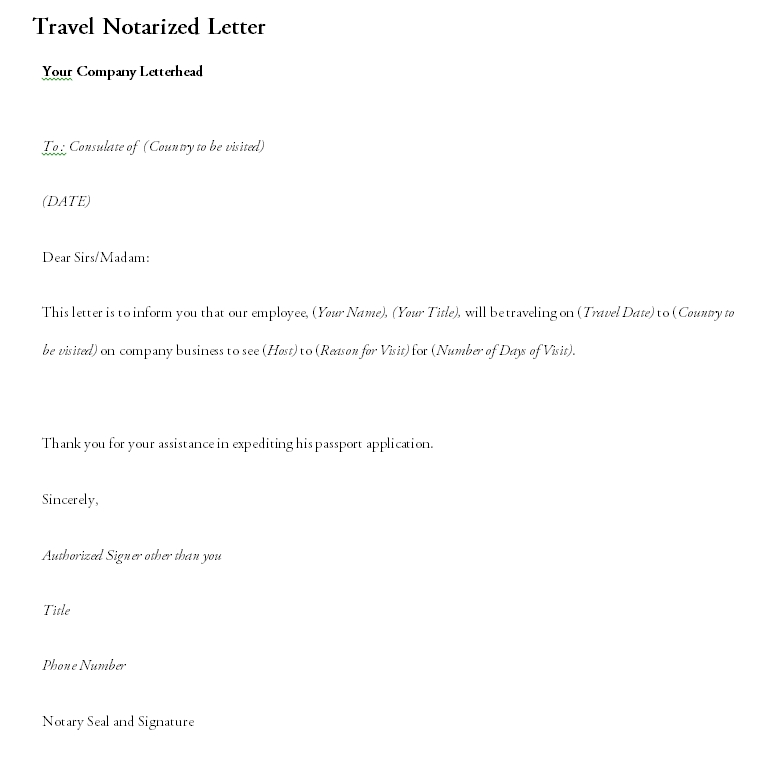 Notarized Letter Template 16