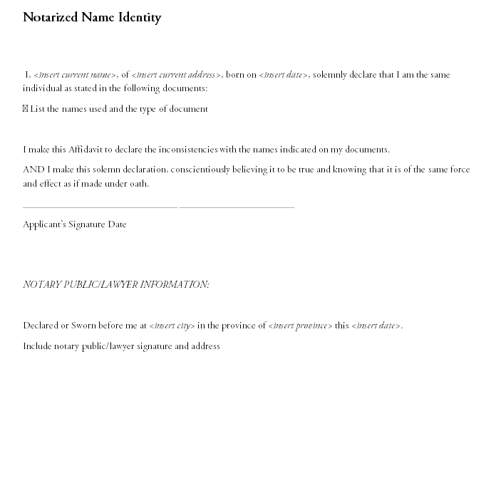 Notarized Letter Template 18