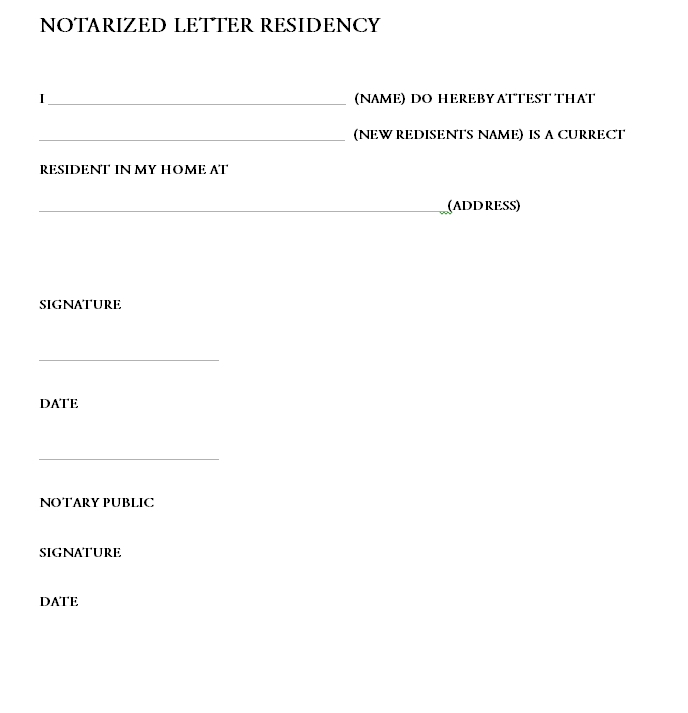 Notarized Letter Template 19