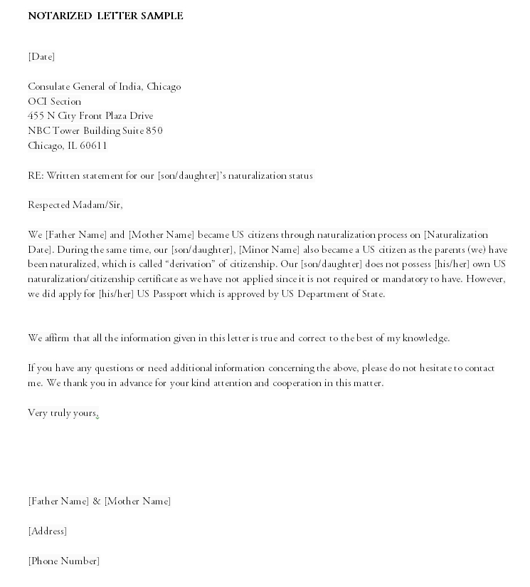 Notarized Letter Template 24