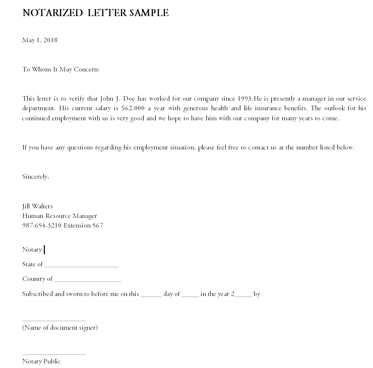 Notarized Letter Template 28