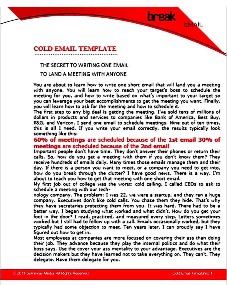 Professional Business Email templates