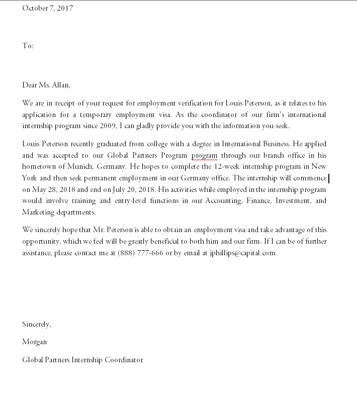 Proof of employment letter 04