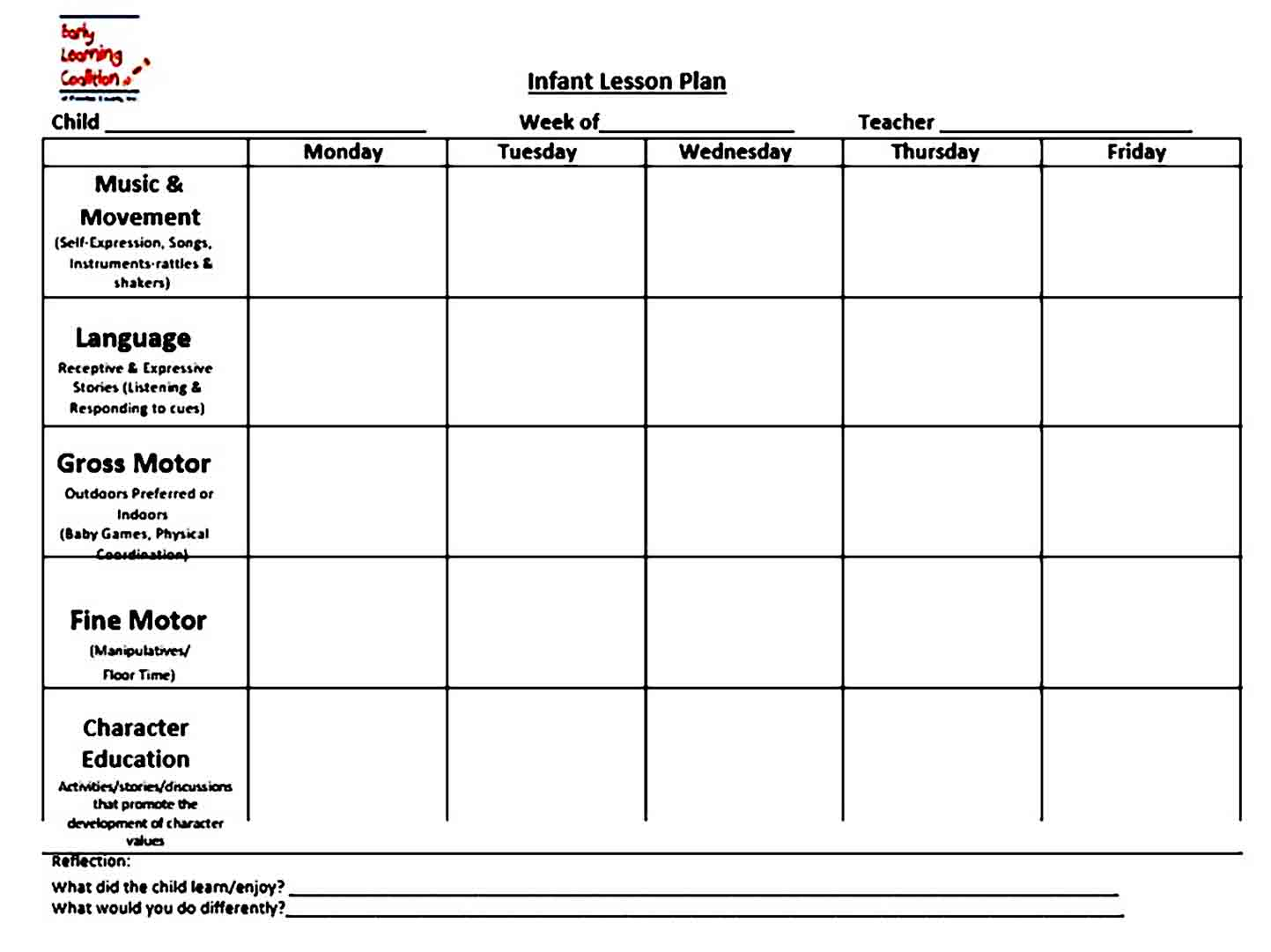 Provider Sample Lesson Plan templates