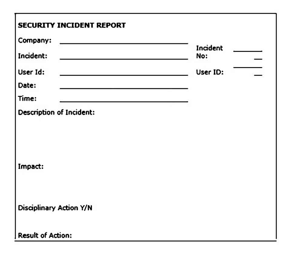 Security Incident Report Form
