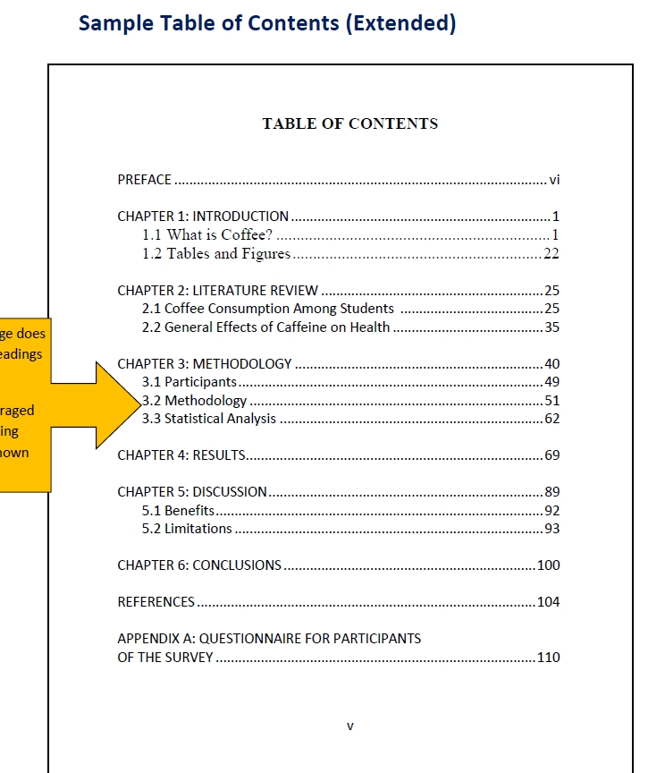 Table of Contents Template PDF 06