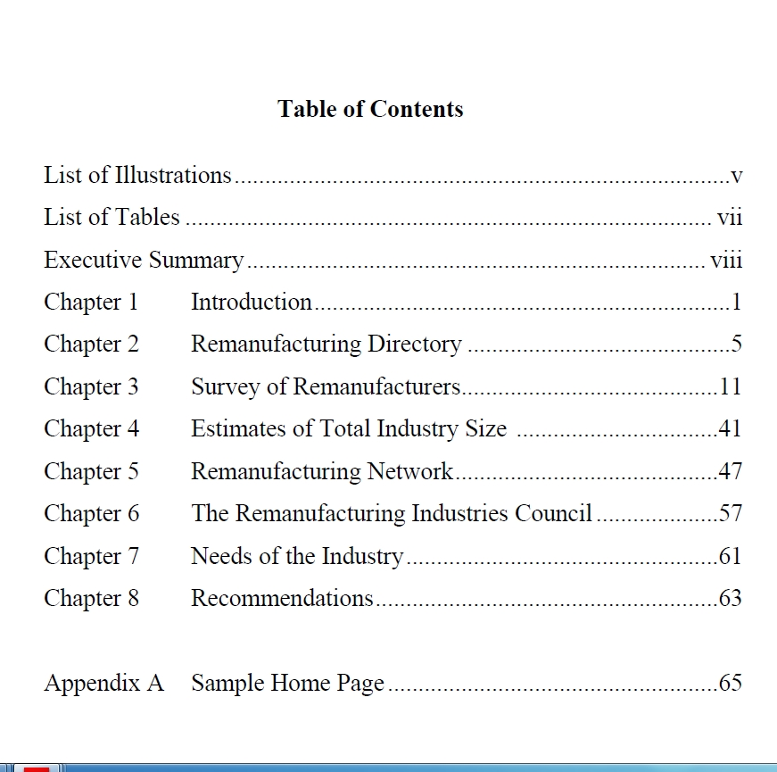 Table of Contents Template PDF 10