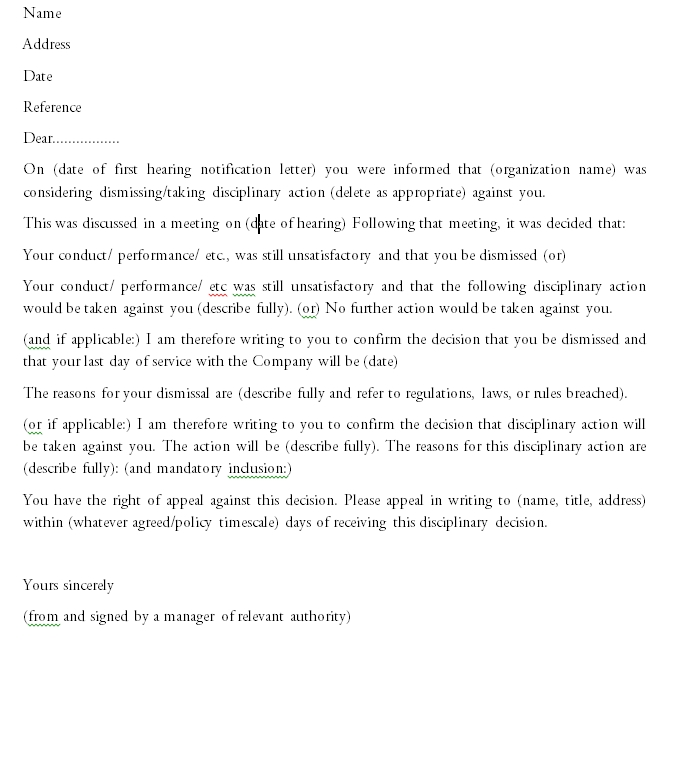 Termination Letter Template 03