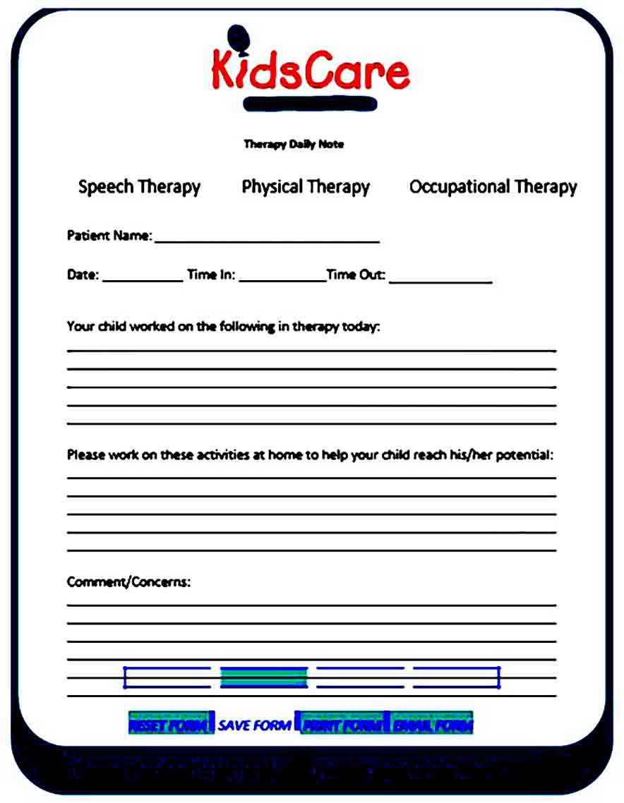 Therapy Note templates