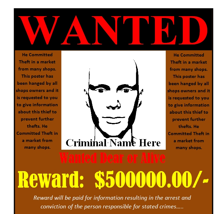 Wanted Poster Template 02
