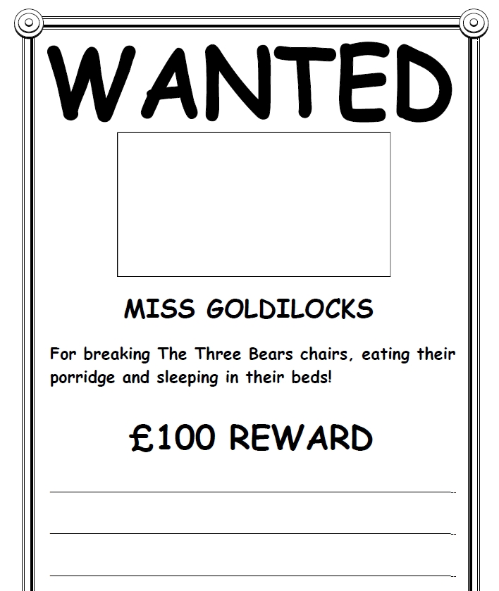 Wanted Poster Template 021