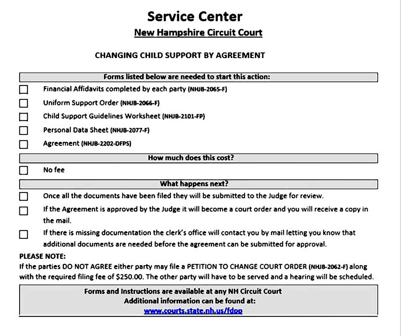 changing child support by agreement