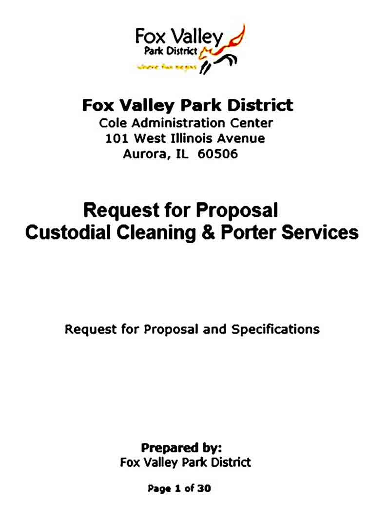 custodial cleaning and porter services rfp
