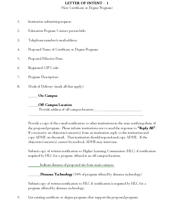 letter of intent 06