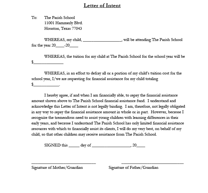 letter of intent 33