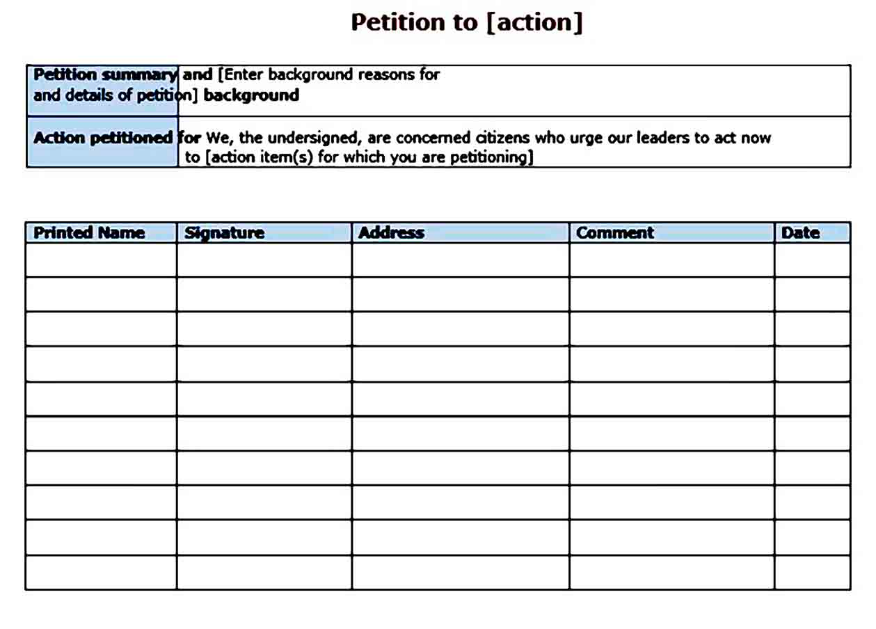 petition templates 003
