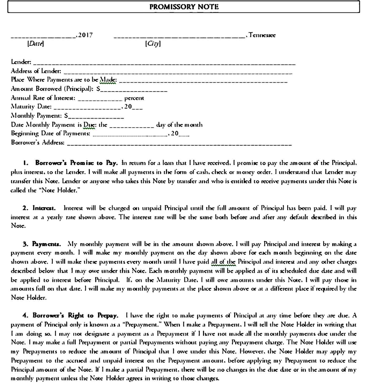 promissory note template 27