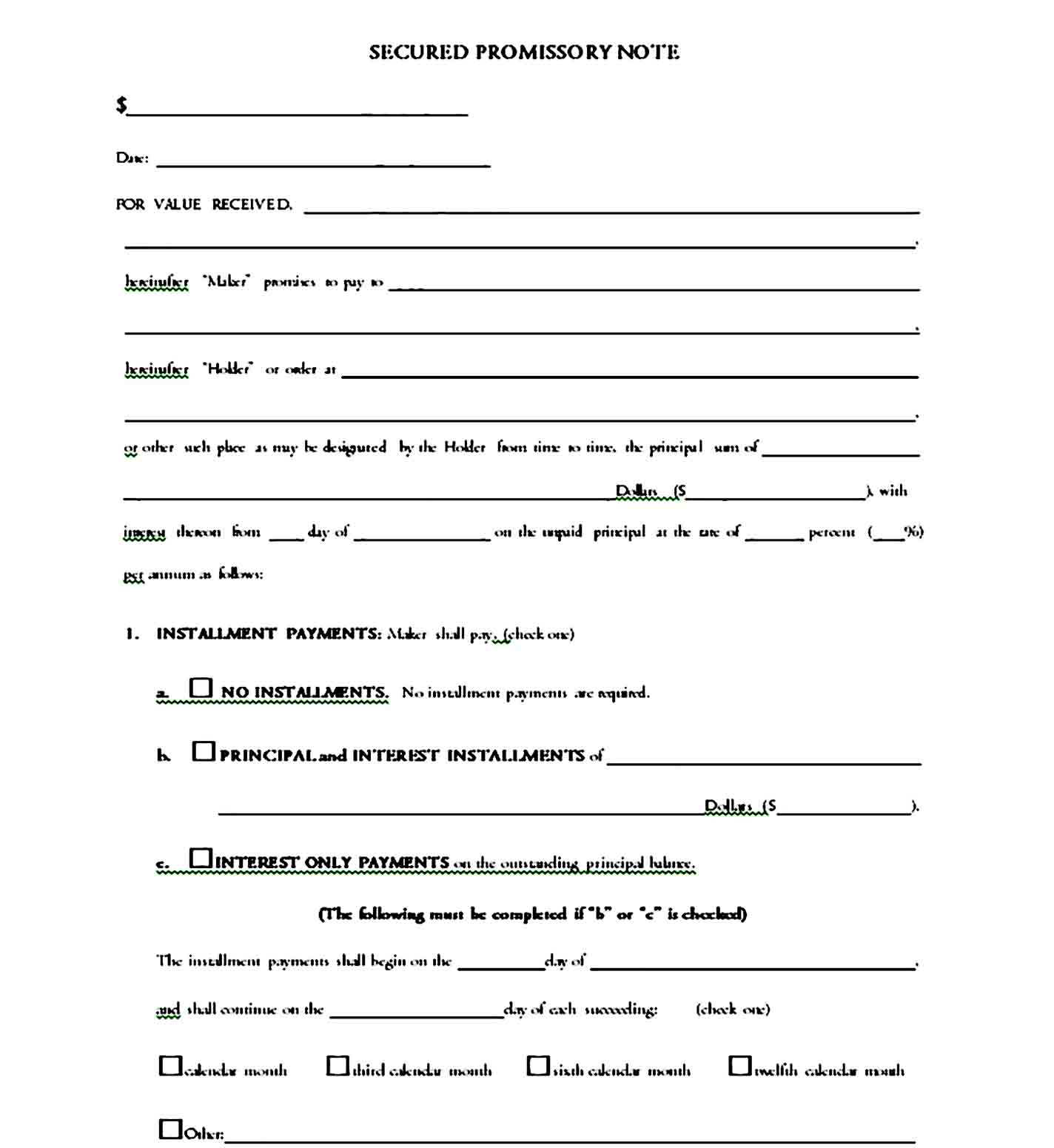 promissory note template 35