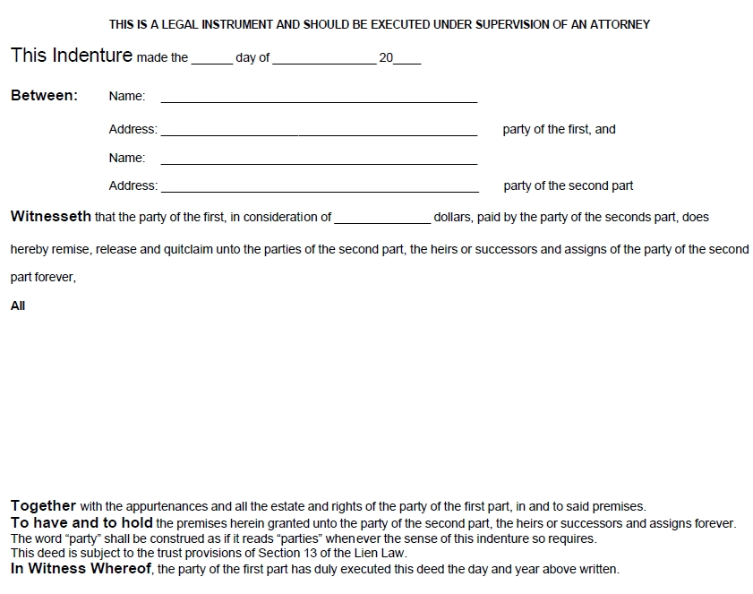 quit claim deed template 22
