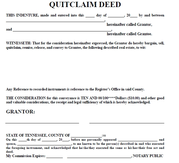 quit claim deed template 28