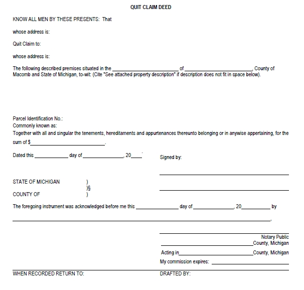 quit claim deed template 29
