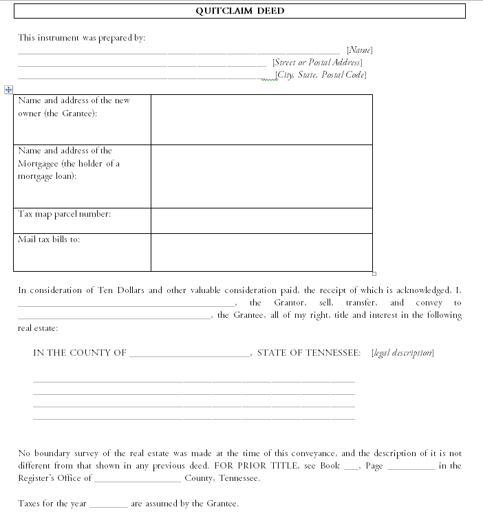 quit claim deed template 31