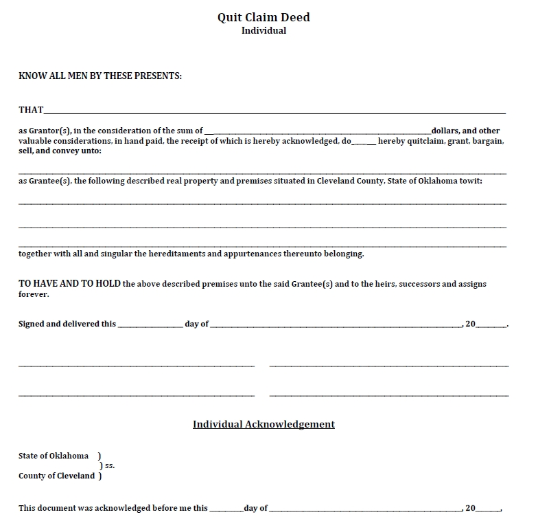 quit claim deed template 45
