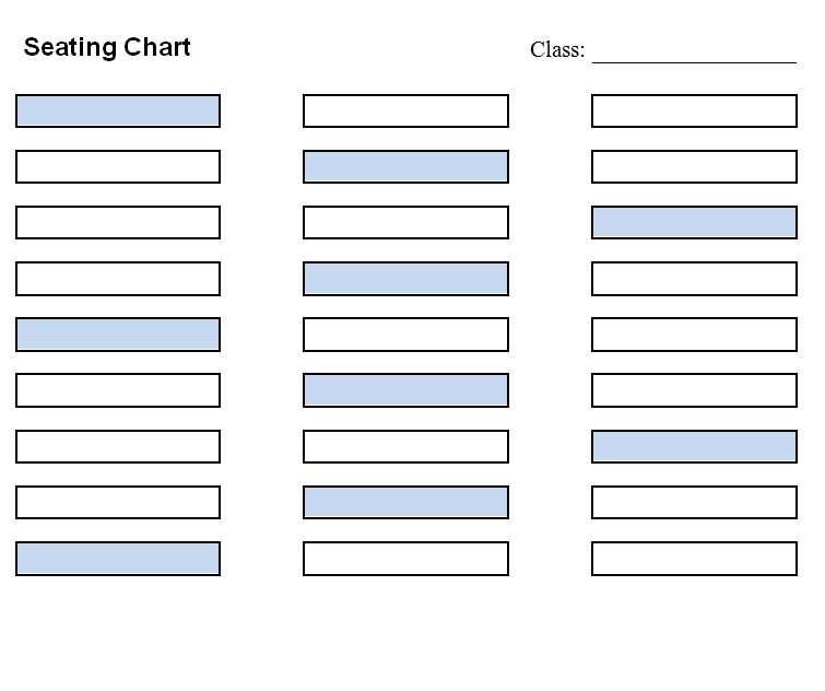 seating chart template 33