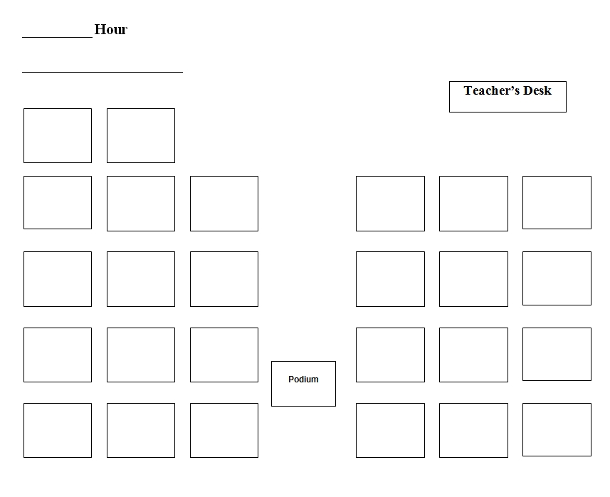 seating chart template 41