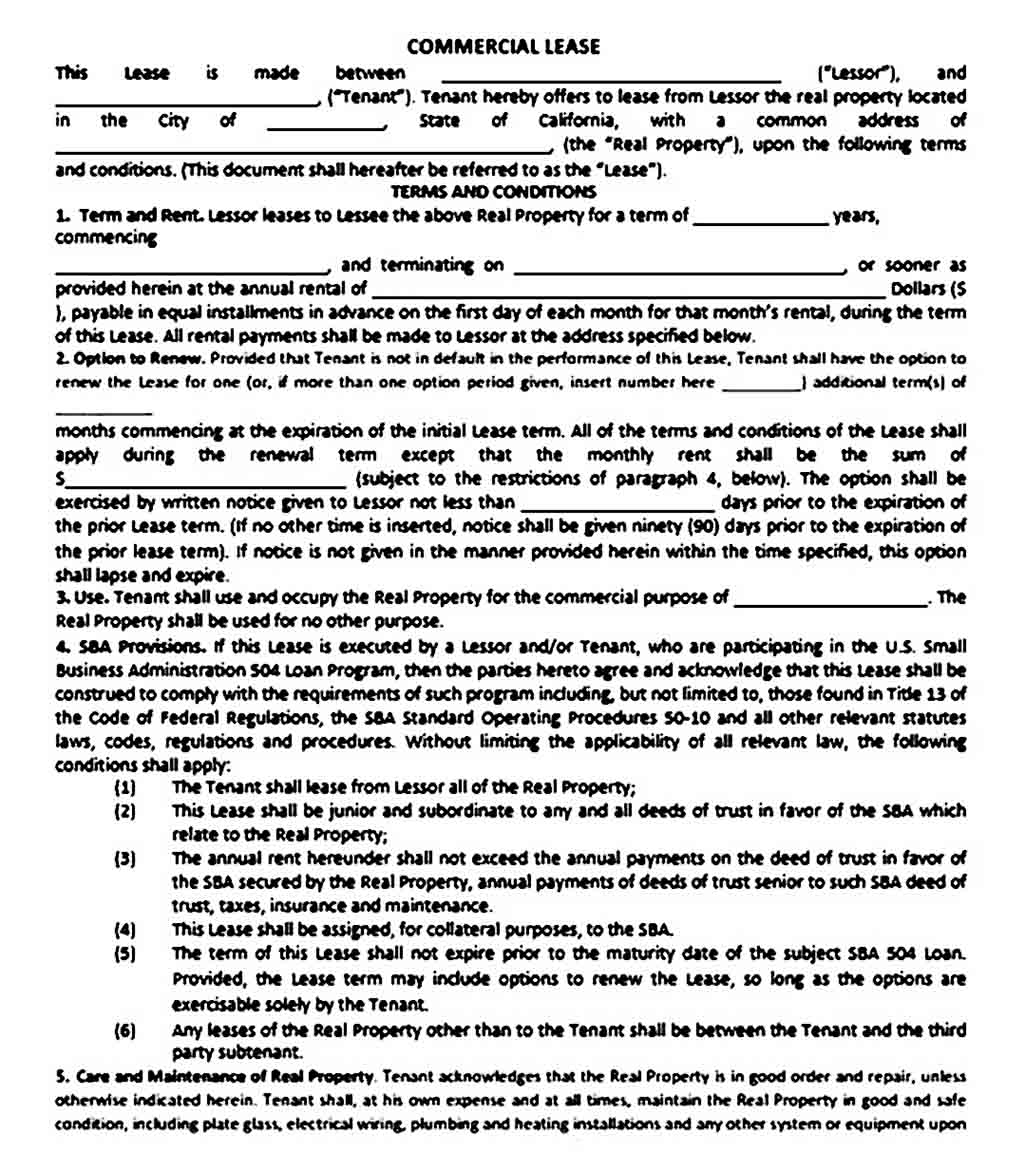 simple office lease agreement