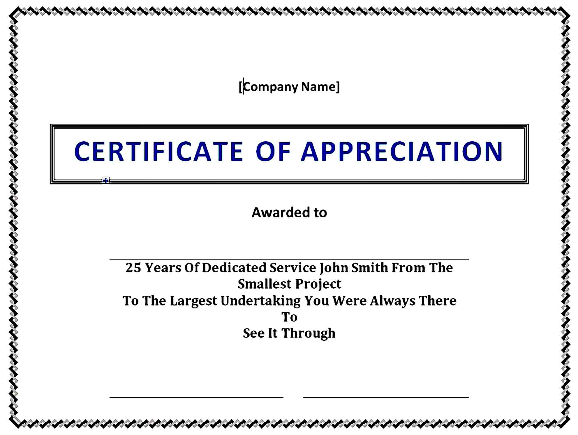 Certificate of Appreciation 05
