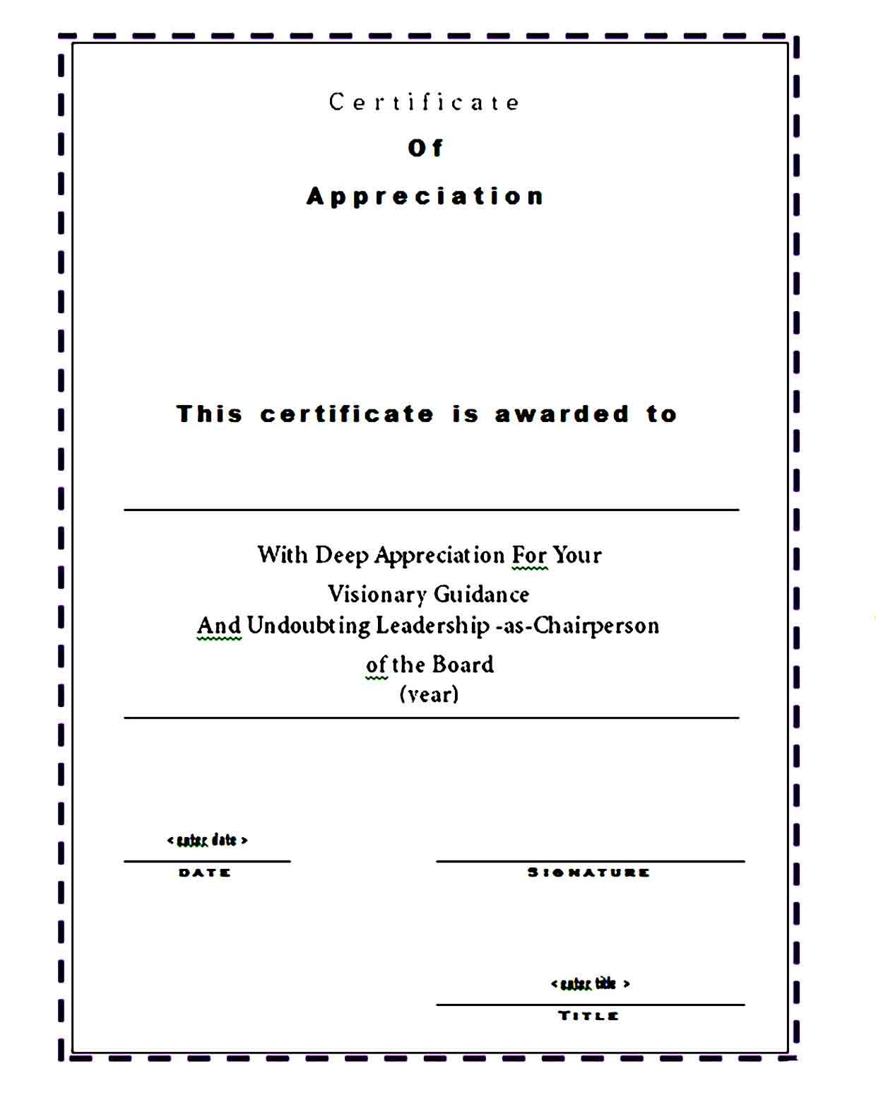 Certificate of Appreciation 10