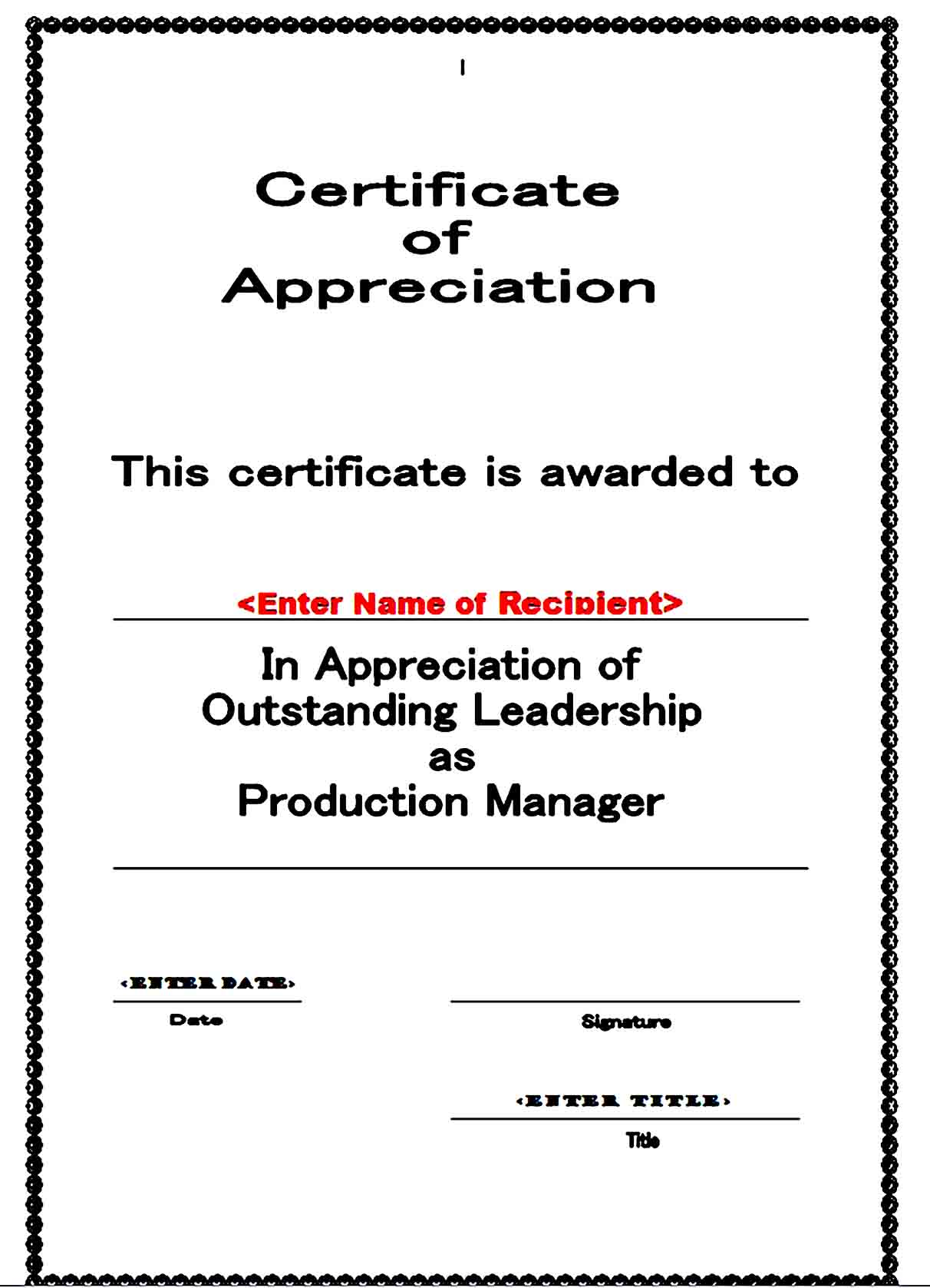 Certificate of Appreciation 11