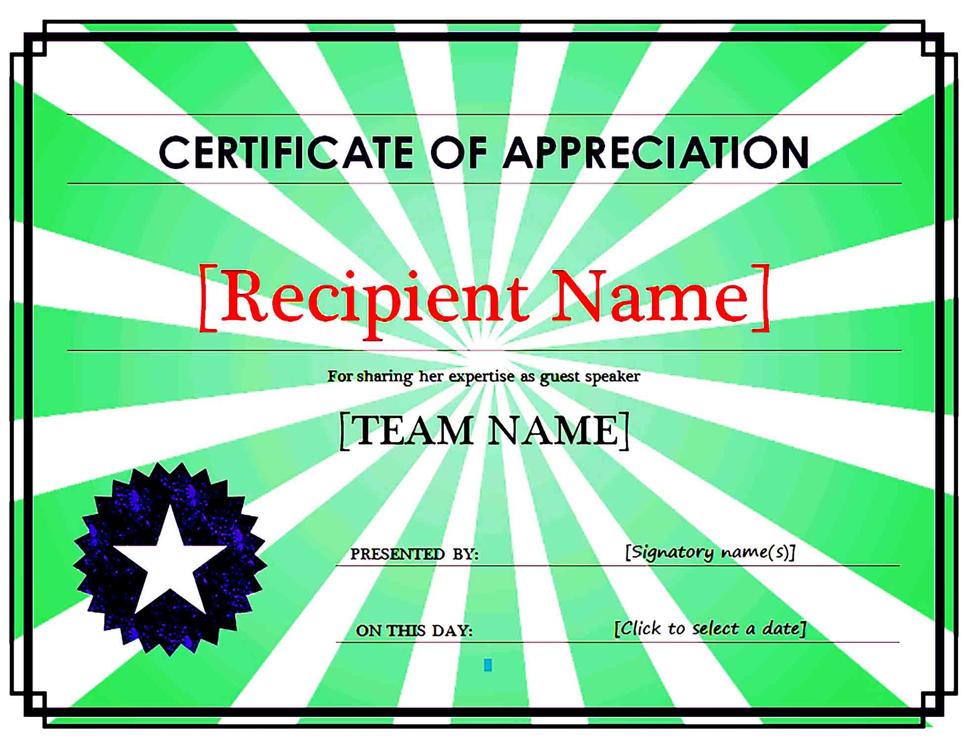 Certificate of Appreciation 14