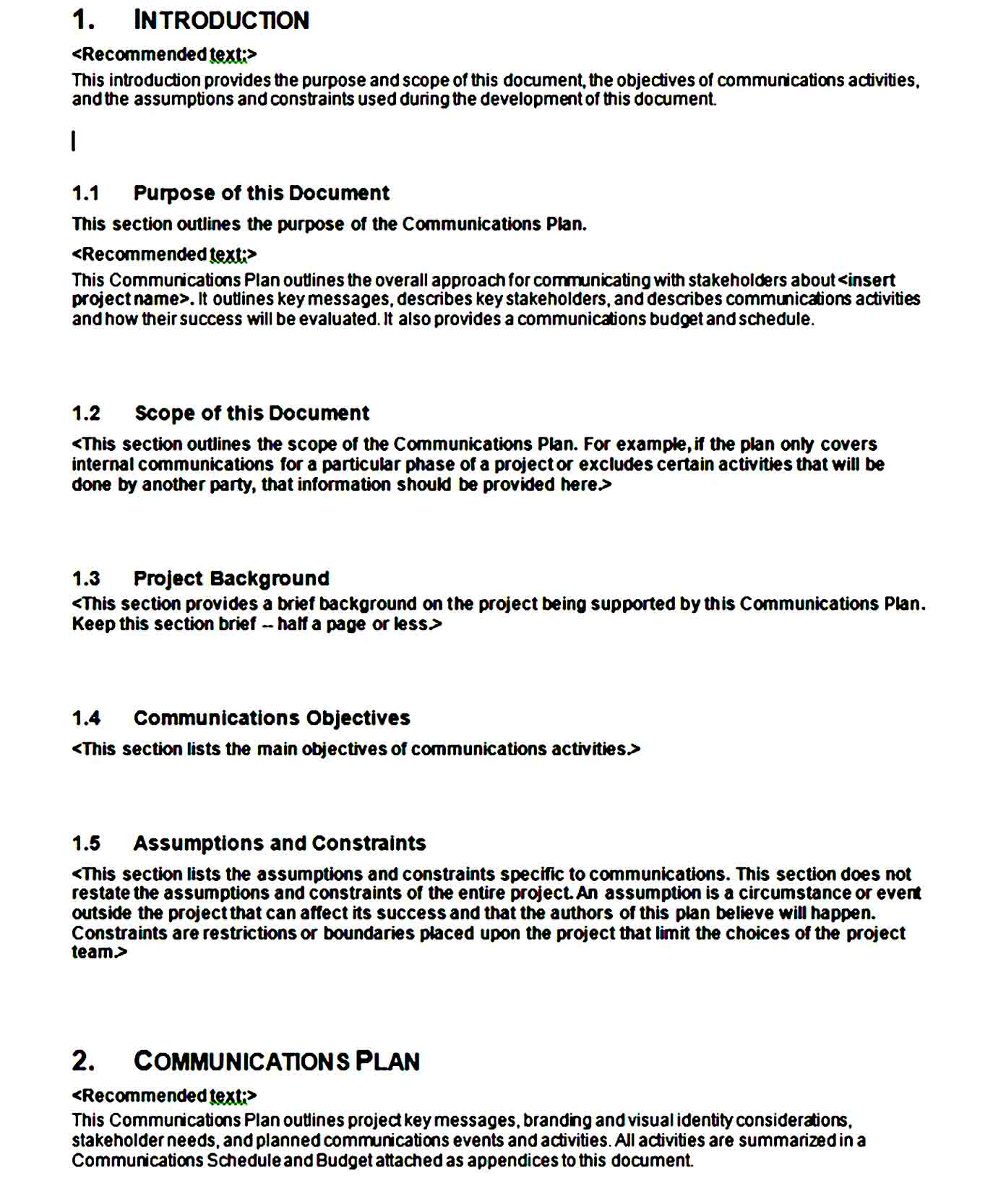 Communication Plan Template 13