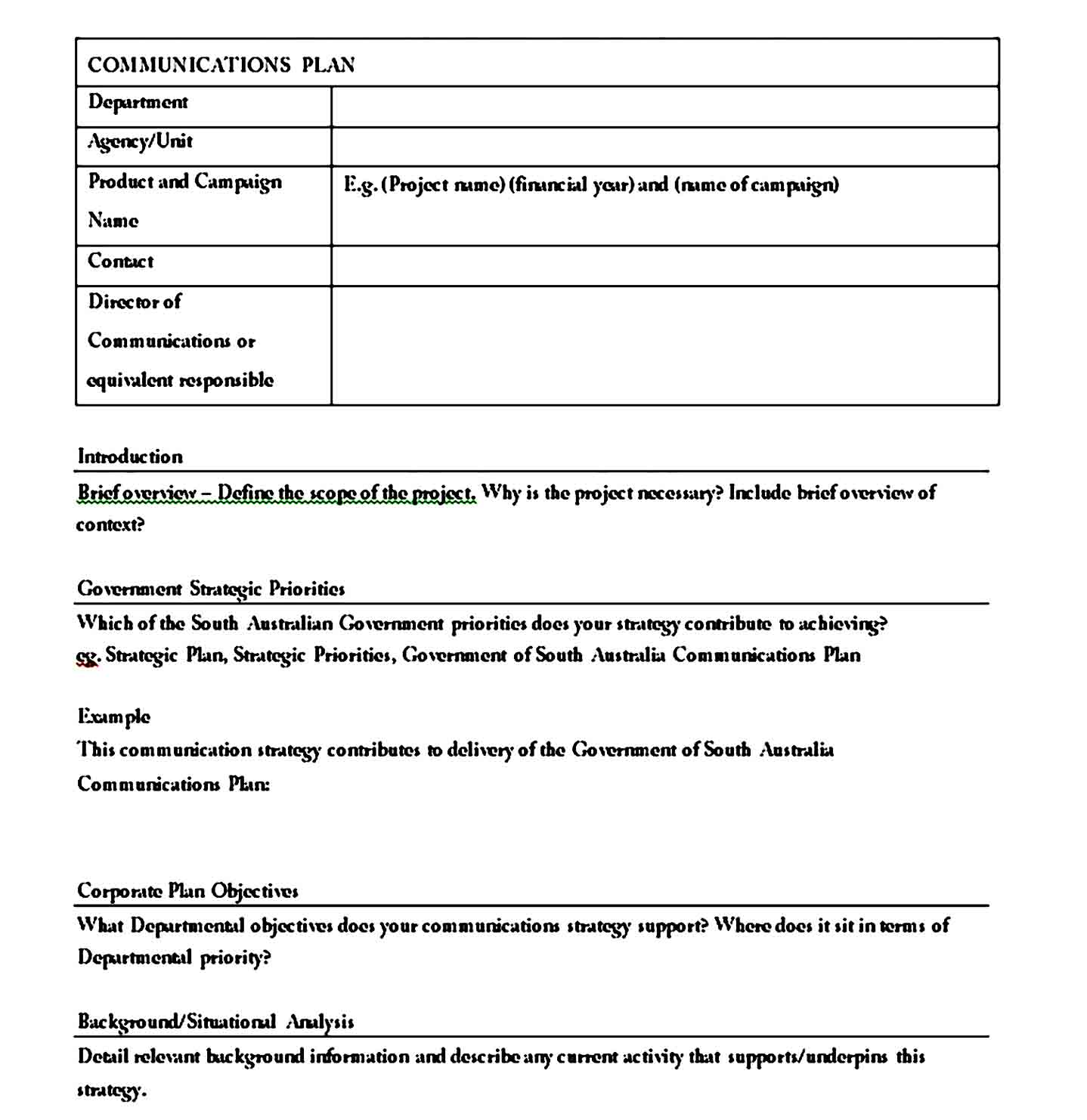 Communication Plan Template 15