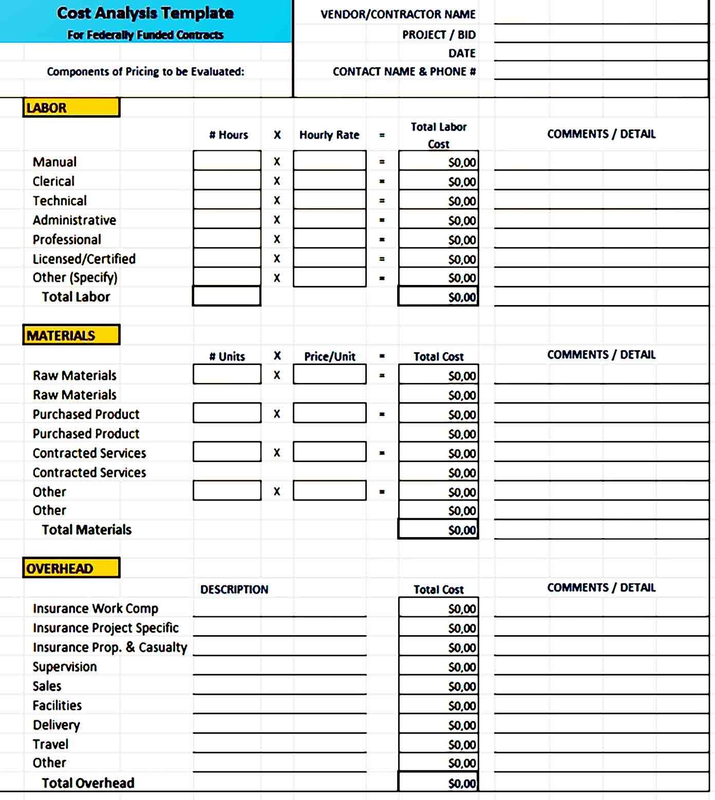 Cost Benefit Analysis Template 06
